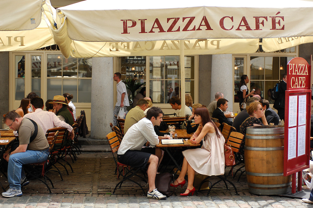 Piazza Cafe Restaurant, Covent Garden, London, Great Britain, UK