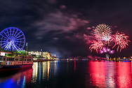 Fireworks at Navy Pier in Chicago, Illinois.