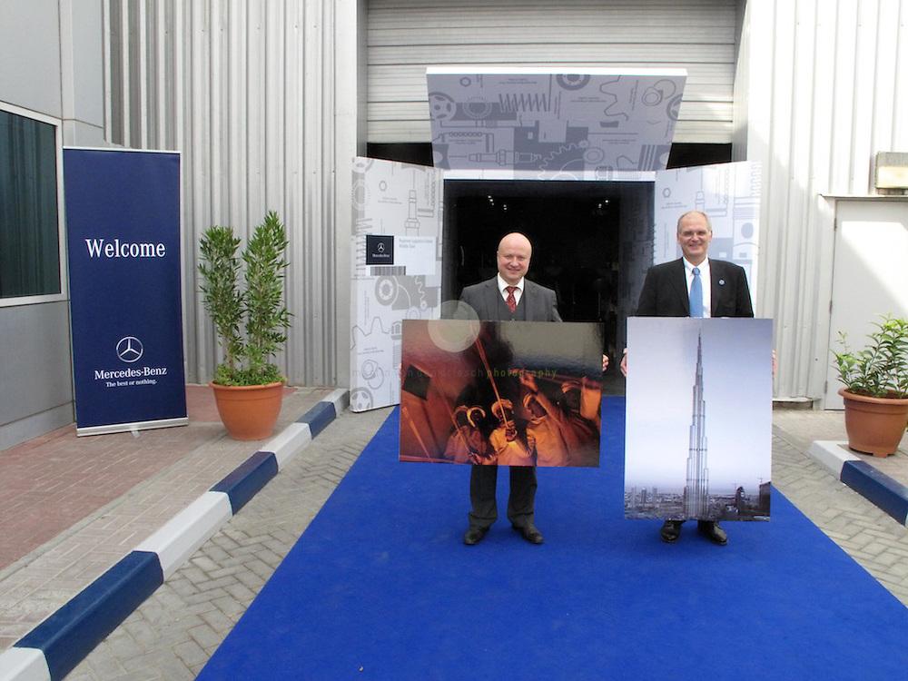 ... Igor Egorov (left) and Ivo Kapitzki, both Daimler AG Middle East.