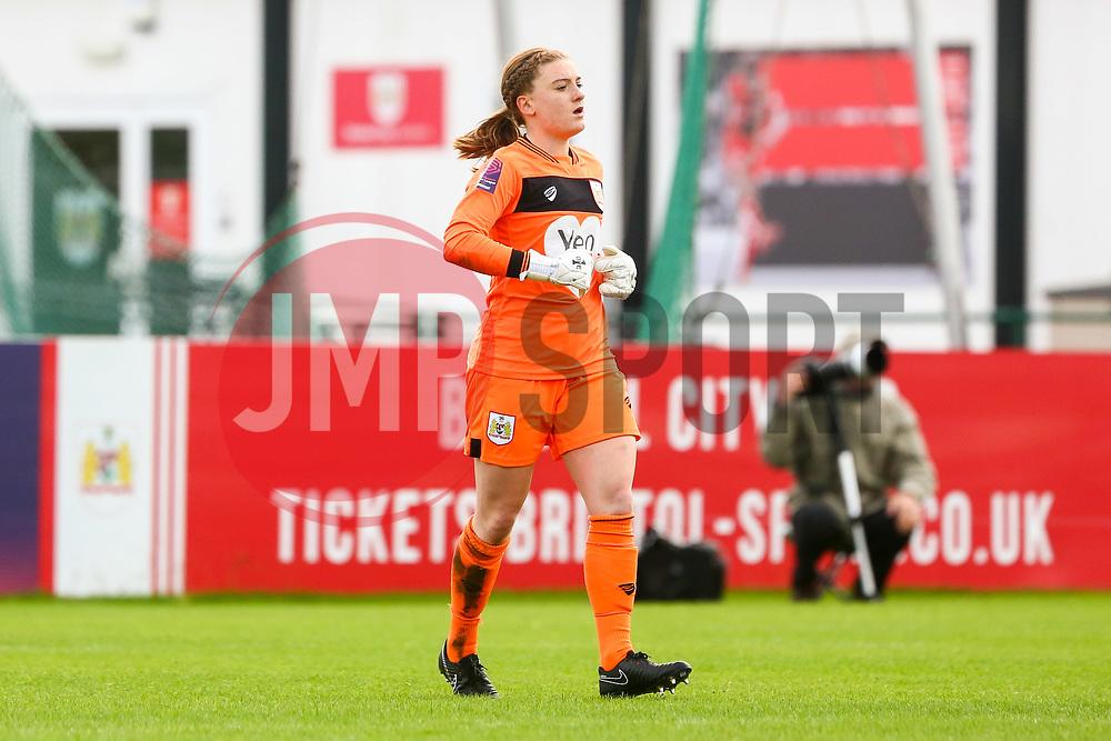 Sophie Baggaley of Bristol City - Mandatory by-line: Ryan Hiscott/JMP - 14/10/2018 - FOOTBALL - Stoke Gifford Stadium - Bristol, England - Bristol City Women v Birmingham City Women - FA Women's Super League 1