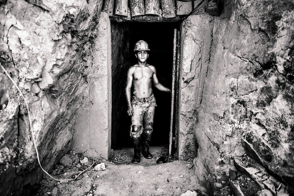 A gold miner in southern Honduras