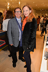 SEBASTIAN CONRAN and GERTRUDE THOME at the launch of the Conran Shop at Selfridge's, Oxford Street, London on 22nd September 2015.