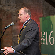 08/12/2015                <br /> Limerick City & County Council launches Ireland 2016 Centenary Programme<br /> <br /> An extensive programme of events across the seven programme strands of the Ireland 2016 Centenary Programme was launched at the Granary Library, Michael Street, Limerick, last night (Monday, 7 December 2015) by Cllr. Liam Galvin, Mayor of the City and County of Limerick.<br /> <br /> Led by Limerick City & County Council and under the guidance of the local 1916 Co-ordinator, the programme is the outcome of consultations with interested local groups, organisations and individuals who were invited to participate in the planning and implementation of events and initiatives during 2016.  <br /> <br /> Pictured at the event was Mayor of Limerick, Cllr. Liam Galvin. Picture: Alan Place