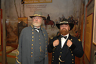 General Robert E. Lee portrayed  by Dick Crozier with General Grant portrayed by Larry Clowers