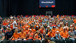 14-09-2019 NED: EC Volleyball 2019 Netherlands - Ukraine, Rotterdam<br /> First round group D - Netherlands win 3-0 / Support fans Orange