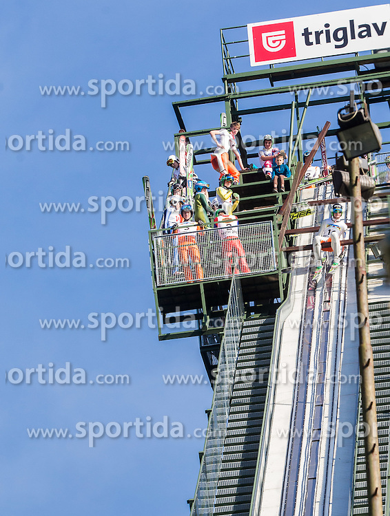 Domen Prevc (SLO) during Ski jumping Summer cup - 45. Revija skokov Mostec on June 4, 2016 in Mostec hill, Ljubljana, Slovenia.Photo by Vid Ponikvar / Sportida