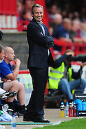Crawley - Tuesday July 13th, 2010: George Burley, manager of Crystal Palace, gesticulates during pre-season friendly match at The Broadfield Stadium, Crawley...(Pic by Alex Broadway/Focus Images)