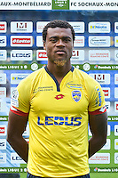 Adolphe Teikeu of Sochaux during the FC Sochaux photocall for the season 2016/2017 in Sochaux on September 20th 2016<br /> Photo : Philippe Le Brech / Icon Sport
