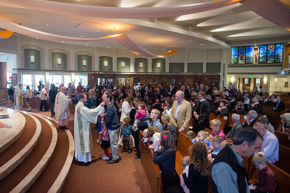 CENTENNIAL, CO - MAY 9: Augustine Institute Graduation Mass and Commencement at St. Thomas More Catholic Parish on May 9, 2015, in Centennial, Colorado. (Photo by Daniel Petty/for the Augustine Institute)