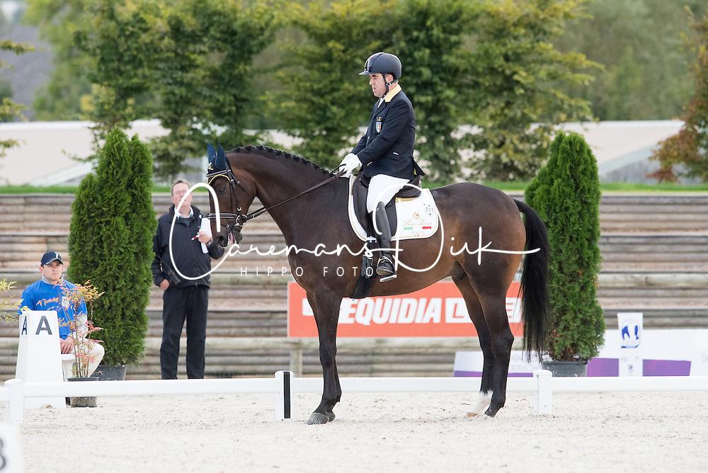 Lunghi Federico, (ITA), Laudario<br /> Grade III Team Test<br /> Para-Dressage FEI European Championships Deauville 2015<br /> &copy; Hippo Foto - Jon Stroud<br /> 18/09/15