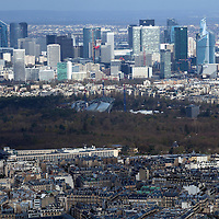 Europe, France Paris. Paris Skyline, view from the Eiffel Tower.
