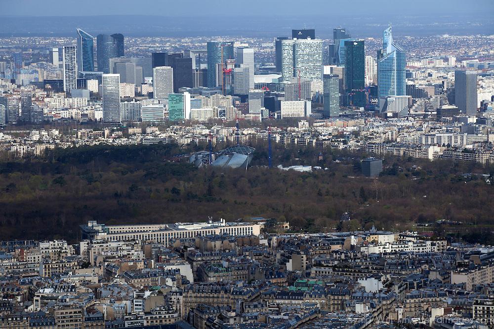 Europe, France Paris. Paris Skyline, view from the Eiffel Tower.