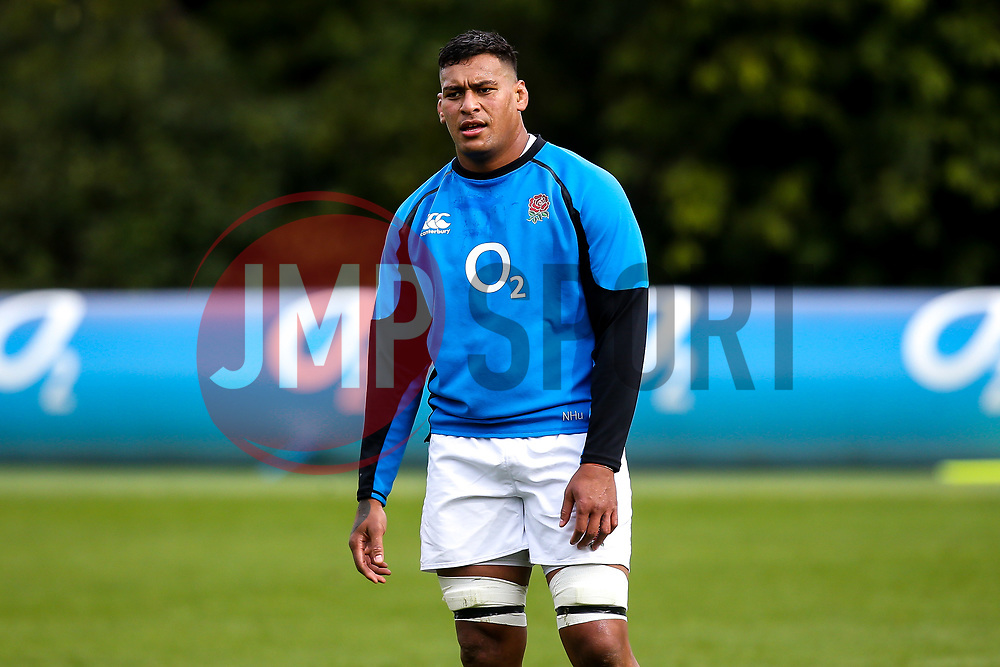 Nathan Hughes of England - Mandatory by-line: Robbie Stephenson/JMP - 08/03/2019 - RUGBY - England - Training session ahead of Guinness Six Nations match against Italy