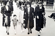 family walking in the street France 1939