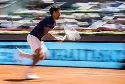 May 13, 2017 - Madrid, Madrid, Spain - NOVAK DJOKOVIC (SRB) returns the ball to Rafael Nadal (ESP) in the semi-final of the 'Mutua Madrid Open' 2017. Nadal won 6:2, 6:4 (Credit Image: © Matthias Oesterle via ZUMA Wire)
