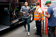 Leeds United midfielder Kalvin Phillips (23) arriving during the EFL Sky Bet Championship match between Bristol City and Leeds United at Ashton Gate, Bristol, England on 4 August 2019.