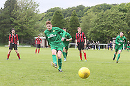 Greig Cushnie scores from the penalty spot  - Hilltown Hotspur (green) v DUMS (red and black)  - Sean Kelly Memorial Cup Final at University Grounds, Riverside - Dundee Saturday Morning FA<br /> <br />  - &copy; David Young - www.davidyoungphoto.co.uk - email: davidyoungphoto@gmail.com