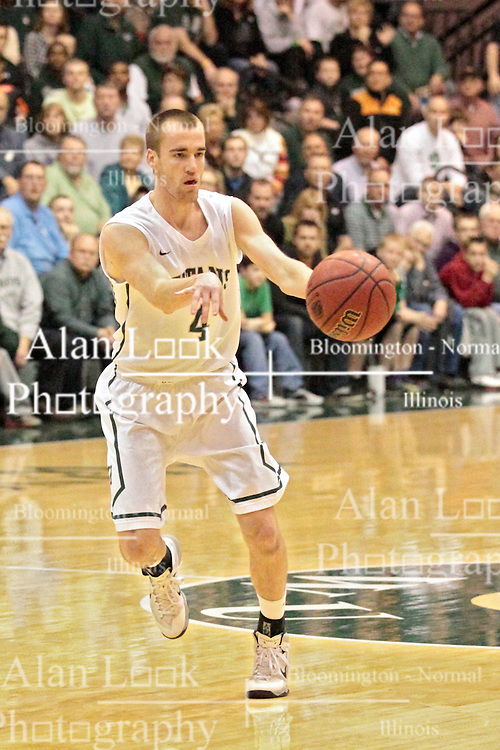 14 March 2014:  Brady Zimmer during an NCAA mens division 3 quarter final basketball game between the Calvin Knights and the Illinois Wesleyan Titans in Shirk Center, Bloomington IL