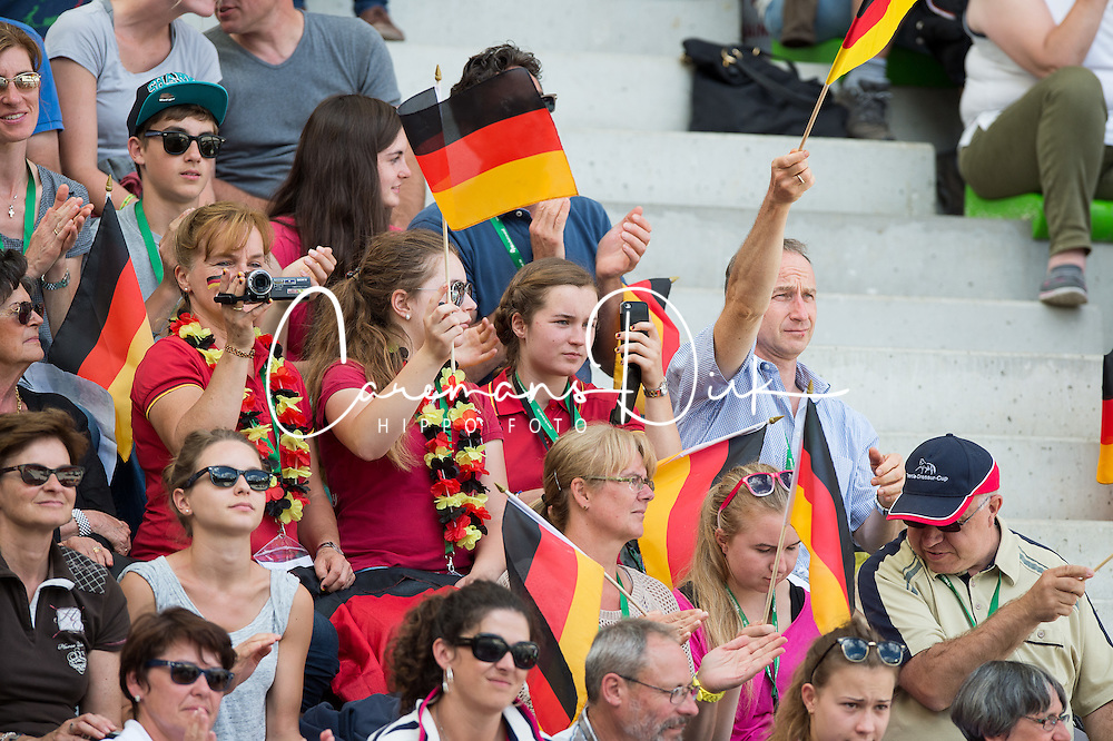 German supporters - Freestyle Grand Prix Dressage - Alltech FEI World Equestrian Games™ 2014 - Normandy, France.<br /> © Hippo Foto Team - Jon Stroud<br /> 25/06/14
