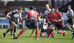 Pontypridd Cameron Lewis<br /> Photographer Mike Jones/Replay Images<br /> <br /> Aberavon RFC v Pontypridd RFC <br /> Principality Premiership<br /> Saturday 14th April 2018<br /> Talbot Athletic Ground<br /> <br /> World Copyright © Replay Images . All rights reserved. info@replayimages.co.uk - http://replayimages.co.uk
