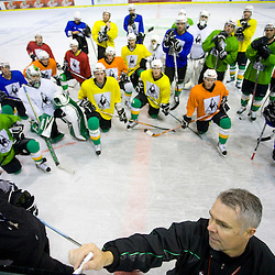 20081016: Ice Hockey - HDD Tilia Olimpija and coach Edmonds