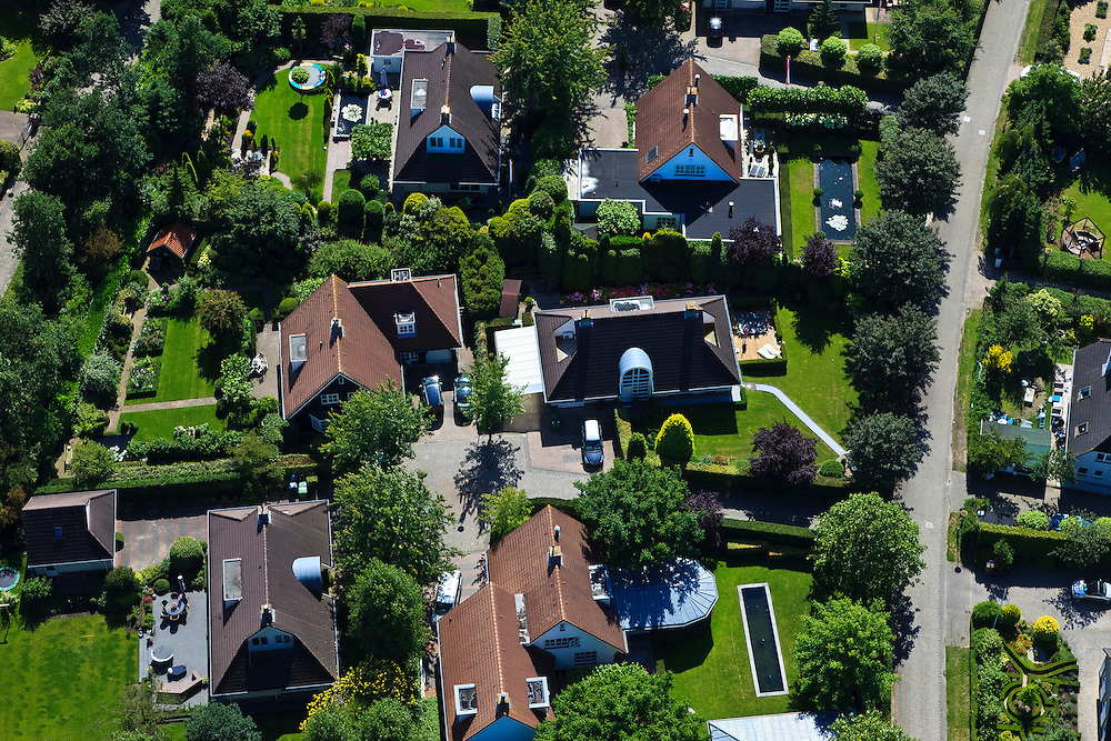 Nederland, Flevoland, Almere-Hout, 30-06-2011; villawijkje nieuwbouw. New housing estate in Almere-Hout..luchtfoto (toeslag), aerial photo (additional fee required).copyright foto/photo Siebe Swart