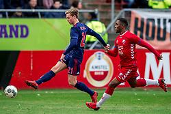 28-01-2018 NED: FC Utrecht - AFC Ajax, Utrecht<br /> Frenkie de Jong #21 of Ajax, Gyrano Kerk #7 of FC Utrecht