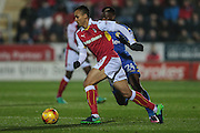 Peter Odemwingie (Rotherham United) runs with the ball during the EFL Sky Bet Championship match between Rotherham United and Leeds United at the New York Stadium, Rotherham, England on 26 November 2016. Photo by Mark P Doherty.