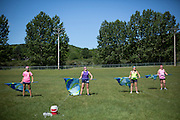 Shadow Armada practices in Sutton's Bay, Michigan on July 10, 2014.