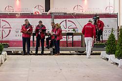 Keuringscommissie springen, Tim Van Tricht, Herman Van den Broeck, Stefaan De Smet, Inge Meurrens<br /> BWP Hengsten Keuring - Lier 2020<br /> © Hippo Foto - Dirk Caremans<br /> 16/01/2020
