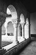 Courtyard at The Cloisters, branch of the Metropolitan Museum of Art, Fort Tryon Park, New York City.