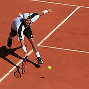 Lleyton Hewitt in action against Rafael Nadal during the third round match at the French Open Tennis Tournament at Roland Garros in Paris, France on Friday, May 29, 2009. Photo Tim Clayton.