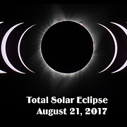 Composite Image of the progression of the 2017 Total Solar Eclipse also named the Great American Eclipse. Captured in Salem, Oregon along the path of totality on August 21, 2017.  Images positioned for visual impact.