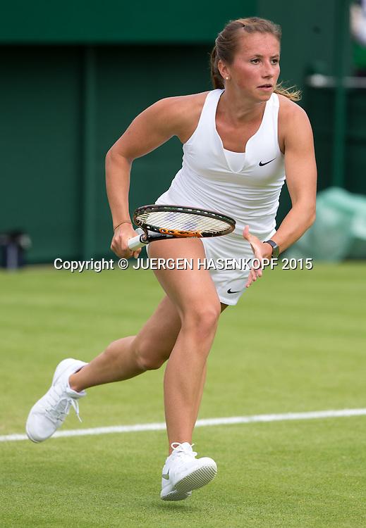 Annika Beck (GER)<br /> <br /> Tennis - Wimbledon 2015 - Grand Slam ITF / ATP / WTA -  AELTC - London -  - Great Britain  - 29 June 2015.