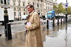 © Licensed to London News Pictures. 21/10/2019. London, UK. DOMINIC GRIEVE MP is seen in Westminster, London. Last week Parliament sat on a Saturday for the first time since 1982, but failed to vote on Boris Johnson's new Brexit deal. Photo credit: Ben Cawthra/LNP