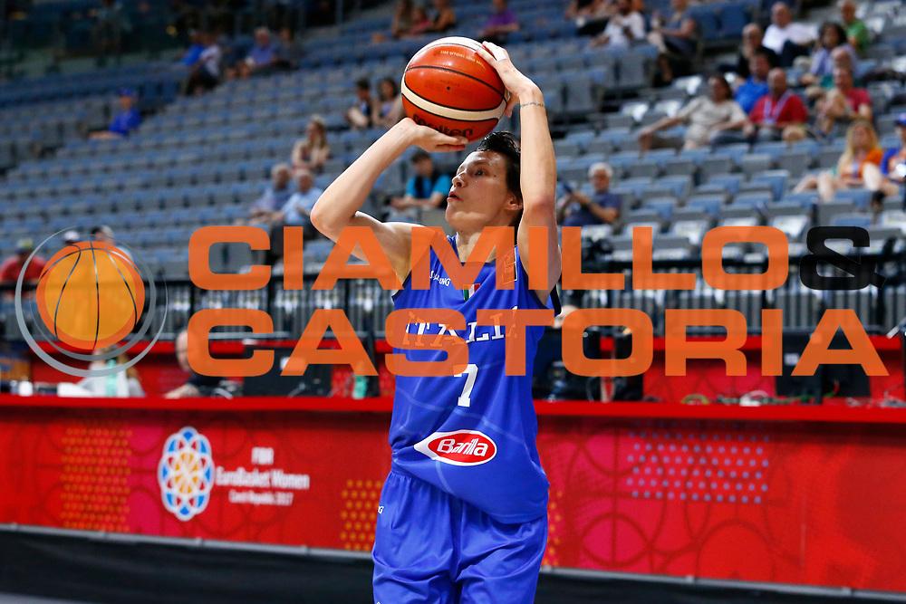 Giorgia Sottana<br /> Italia - Lettonia<br /> Nazionale Femminile Senior - EUROBASKET 2017<br /> O2 Arena, Praga, 24/06/2017<br /> Foto Ciamillo-Castoria / M.Brondi