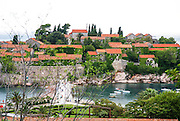 Sveti Stefan (St. Stefan) near Budva, Montenegro