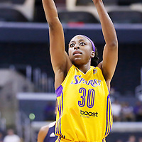 03 August 2014: Los Angeles Sparks forward Nneka Ogwumike (30) is seen at the free throw line during the Los Angeles Sparks 70-69 victory over the Connecticut Sun, at the Staples Center, Los Angeles, California, USA.