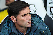 Villarreal head coach Marcelino Garcia Toral during the Pre-Season Friendly match between Derby County and Villarreal CF at the iPro Stadium, Derby, England on 29 July 2015. Photo by Aaron Lupton.