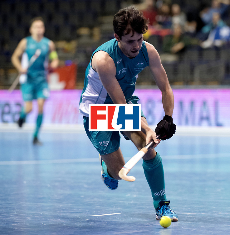 BERLIN - Indoor Hockey World Cup<br /> Men: Australia - Czech Republic<br /> foto: KNEE James.<br /> WORLDSPORTPICS COPYRIGHT FRANK UIJLENBROEK