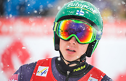 31.01.2016, Casino Arena, Seefeld, AUT, FIS Weltcup Nordische Kombination, Seefeld Triple, Skisprung, im Bild Ilkka Herola (FIN) // Ilkka Herola of Finland reacts after his Competition Jump of Skijumping of the FIS Nordic Combined World Cup Seefeld Triple at the Casino Arena in Seefeld, Austria on 2016/01/31. EXPA Pictures © 2016, PhotoCredit: EXPA/ Jakob Gruber