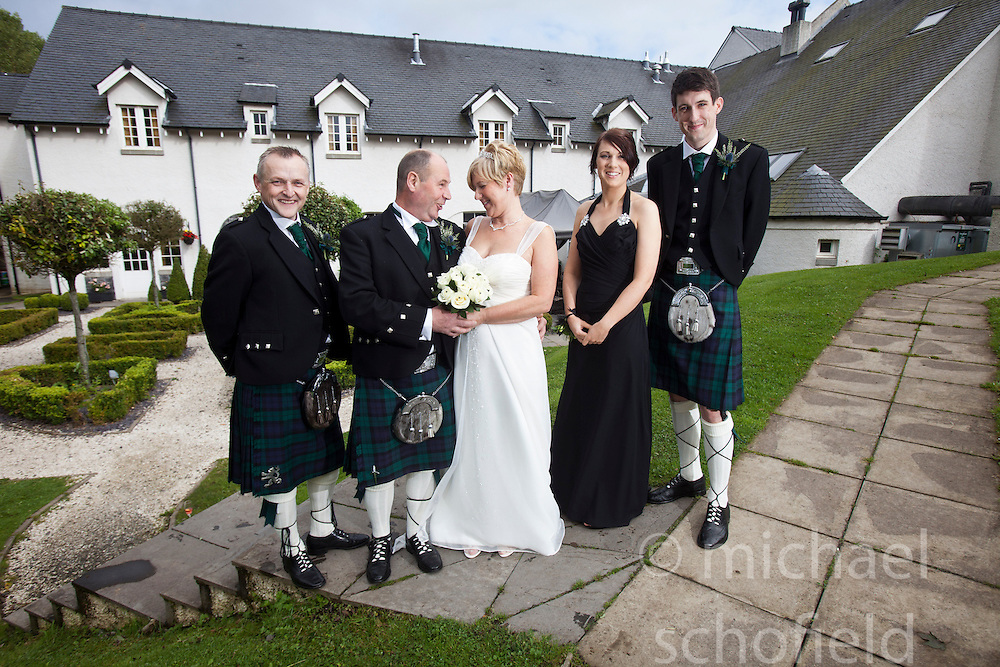 The wedding of Teresa and Jim, at Glenskirlie House and Castle, 7th September 2012..©Michael Schofield.