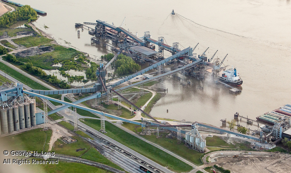 Cargill, Inc. on the Mississippi River near New Orleans