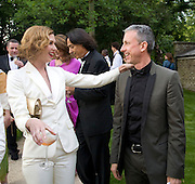 MARGOT STILLEY AND PATRICK COX, Raisa Gorbachev Foundation Party, at the Stud House, Hampton Court Palace on June 7, 2008 in Richmond upon Thames, London,Event hosted by Geordie Greig and is in aid of the Raisa Gorbachev Foundation - an international fund fighting child cancer.  7 June 2008.  *** Local Caption *** -DO NOT ARCHIVE-© Copyright Photograph by Dafydd Jones. 248 Clapham Rd. London SW9 0PZ. Tel 0207 820 0771. www.dafjones.com.