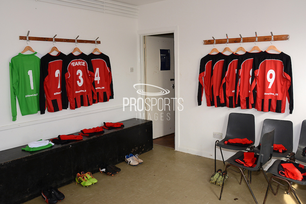 GLOUCESTERSHIRE, ENGLAND – MARCH 12: Stuart Pearce makes his debut for non-league Longford AFC as part of the #directfix campaign by Direct Line. Changing room.