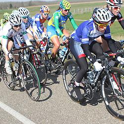 Energiewacht Tour 2012 Midwolda Trixi Worrack in the blue Dolmans jersey most agressive rider