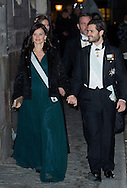 Stockholm, 20-12-2015<br /> <br /> Attendance at the formal gathering of the Swedish Academy<br /> <br /> The King, The Queen, The Crown Princess, Prince Daniel, Prince Carl Philip, Princess Sofia, Princess Madeleine, Christopher O'Neill <br /> <br /> <br /> Photo; Royalportraits Europe/Bernard Ruebsamen