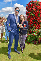 Leah Wood and Jack Macdonald at the Cartier Queen's Cup Polo 2019 held at Guards Polo Club, Windsor, Berkshire. UK 16 June 2019. <br /> <br /> Photo by Dominic O'Neill/Desmond O'Neill Features Ltd.  +44(0)7092 235465  www.donfeatures.com