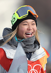 USA's Chloe Kim during the Ladies Halfpipe Snowboard Qualification during day three of the PyeongChang 2018 Winter Olympic Games in South Korea.