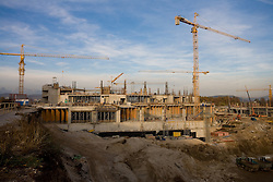 Building of new football stadium and basketball arena in Ljubljana - Stozice, on October 28, 2009, in Ljubljana, Slovenia.  (Photo by Vid Ponikvar / Sportida)